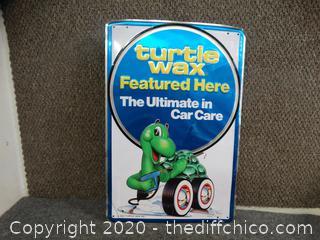 Turtle Wax Tin Sign
