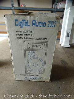 Digital / Audio 2002 Cinema Series Cherry Wood  Speaker NIB