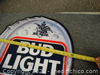 Metal Bud Light Sign
