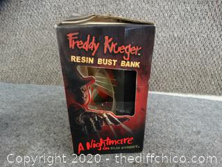 Freddy Kruger Resin Bust Bank