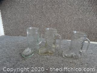 4 Glass Boots 1 not not Pictured