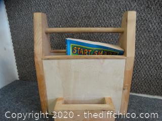 Kids Chalk Board & Book Carrying case