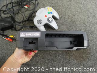 Nintendo 64 With Controller & Memory Card