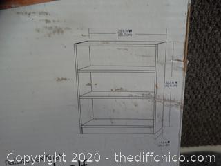 New 3 Shelf Bookcase