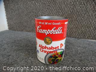 Campbell's Alphabet Crayons