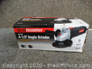 """NEW  4 1/2 """" Drill Master  Angle Grinder"""