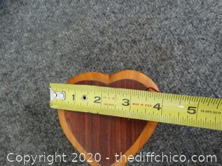 Wooden Puzzle Heart Jewelry Box