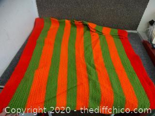 "Crochet Blanket 64"" x 35"""