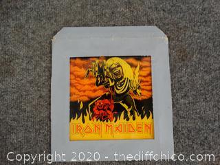 Iron Maiden Glass Plate