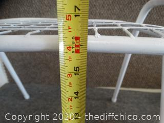 White Metal Table / Stool