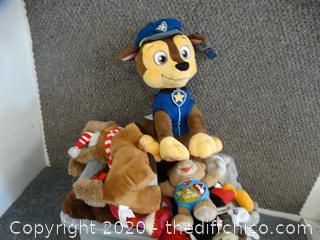 Tub Of Stuffed Animals
