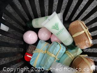 Basket With Personal Care Items