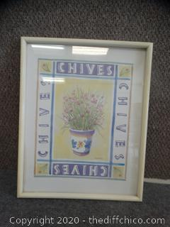 Chives Framed Picture