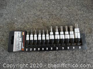 12 Piece Star Bit Socket Set