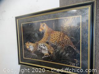 """Framed Cheetah Picture 32"""" x 44"""""""