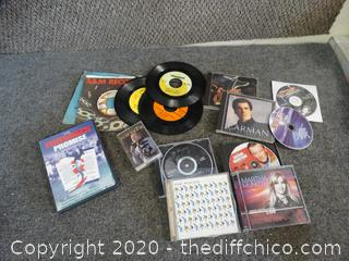 CDS, DVDS, Records