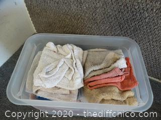 Tub Of Cleaning Rags