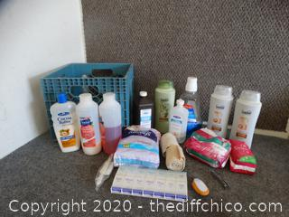 Crate Of Personal Care Items
