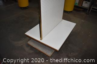 Pegboard Two Sided Display