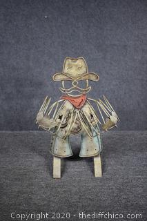 Cowboy Yard Art