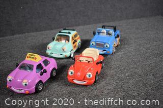 4 Chevron Collectible Cars