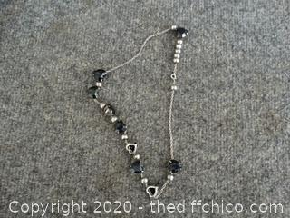 Heart And Metal Beaded Necklace