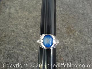 Mens Blue Stoned Ring Size 11