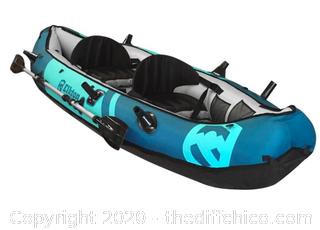 Elkton Outdoors 10' Foot Inflatable Tear Resistant Fishing Kayak (J7)