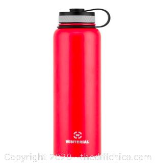 Winterial 40oz Stainless Steel Water Bottle - Red (J20)
