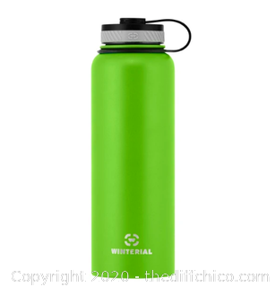 Winterial 40oz Stainless Steel Water Bottle - Green (J23)