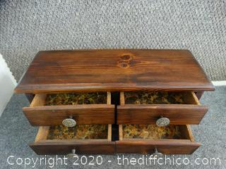 Wooden Multipurpose Box With Drawers