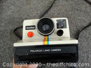 One Step Polaroid Camera