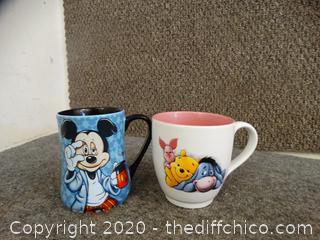 2 Disney Coffee Cups