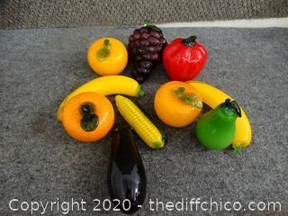Glass Fruit & Vegetables