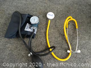 Blood Pressure Cuff And Stethoscope