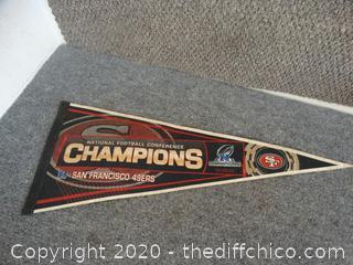 San Francisco 49er Champions Pennant
