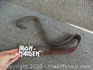 """Iron Maiden Belt Buckle with Belt 46 1/2"""""""