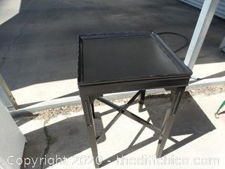 """Black Wood Table  T-27"""" X W-17"""" T- 17"""