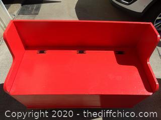 """Red Storage Bench  T-27 1/2"""" X W 41 1/2"""" X D 18"""""""