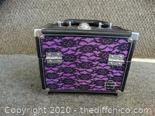 Purple Black Lace Caboodle