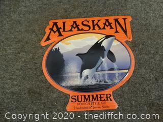 Alaskan Summer Ale  Tin Sign