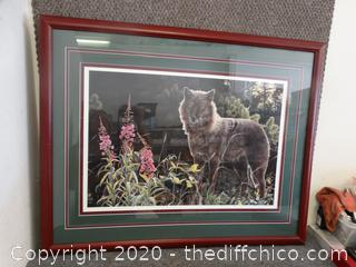 Signed Framed Art Numbered Jan Marlin # 15 0f 750