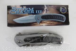 NEW Frost Cutlery Linerlock Black/Gray Nylon KNIFE