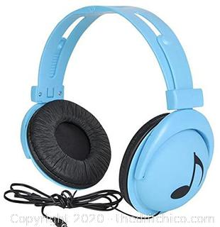 *NEW* 7.5 inches Neon Blue Stereo Headphones