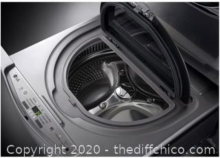 *New See Description* $701 LG SideKick Pedestal Washer with TWINWash System Compatibility in Graphite Steel 29 in. 1.0 cu. ft.