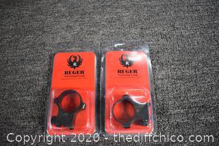 2 NIB Ruger Scope Rings