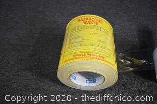 Roll of Hazard Waste Labels