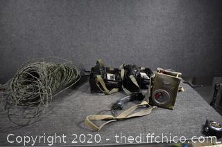 Field Military Phones plus Wire