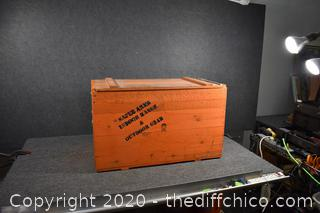Wood Crate w/Lid