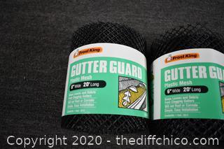 4 NIB Rolls of Gutter Guard